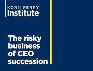 Boards should identify and embrace CEO succession risk