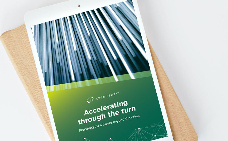 download the Korn Ferry accelerating through the turn leadership guide
